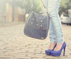 Love the blue heels!