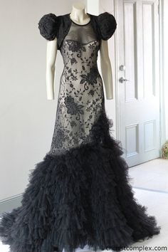 steampunk gowns | Wedding Dress Steampunk Victorian Gown Gothic Fantasy Fashion Black ...