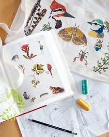 FREE embroidery patterns with instructions. Butterflies, dragonflies, miscalled us spring bug designs. Embroider Bugs with Coral & Tusk - Martha Stewart Crafts
