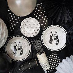 221 pcs Panda partyware panda party supllies panda birthday