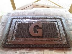 reallly cute easy monogrammed door mat