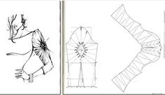 Drape variations - RU site with pattern sketches. Techniques Couture, Sewing Techniques, Sewing Lessons, Sewing Hacks, Pattern Cutting, Pattern Making, Sewing Sleeves, Modelista, Sewing Studio