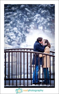 kissing engagement pic