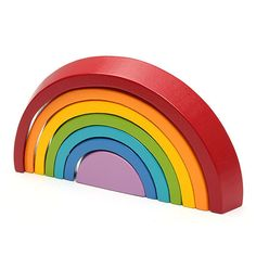 """7 Colors Wooden Stacking Rainbow Shape Children Kids Educational Play Toy Set Description: Material:Wooden Color:Rainbow Package: Color Box Size:(L)X(W)X(H) 24.5X2.5X13cm /9.65''X0.98''X5.12""""(appr.) Features Brand New and high quality. Made of wood material with water-based environmental protection paint covered. This toy set can fully cultivate kid's imagination, kids can stack it as they imagine, such as a bridge, a tunnel, a winding path, a small maze, etc. Good for improving kid's eye-hand c Kids Room Art, Art Wall Kids, Toddler Toys, Kids Toys, Rainbow Learning, Wooden Rainbow, Stacking Toys, Baby Crib Mobile, All Toys"""