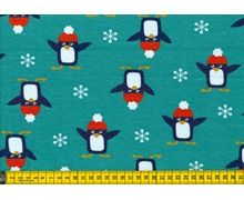 Pinguïns French Terry mint - swafing