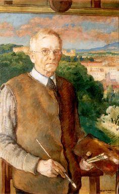 Józef Mehoffer (Polish, 1869-1946) Autoportret, 1944