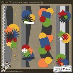 Game On - Border Cluster Temps (CU OK) :: Templates :: SCRAPBOOK-BYTES