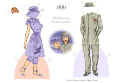 A fashionable couple of the 1880s | Gabi's Paper Dolls