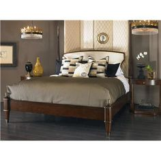Consulate (599-186) JOSEPHINE POSTER BED -UPH HEADBOARD - KING SIZE 6/6