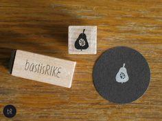 Mini Stempel:  Birne von bastisRIKE von bastisRIKE auf DaWanda.com