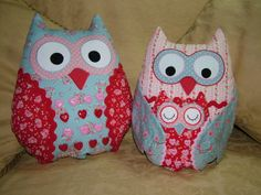 Patchwork owls. Adorable lovely to make.