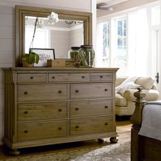 paula+deen+furniture | Paula Deen Down Home 19-040/04M Aunt Peggy's Dresser with Landscape ...