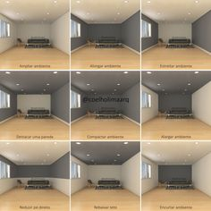 Dark room colors and lively wall color. - Dark room colors and lively wall color. Visually changed interior dimensions – dark room colors a -