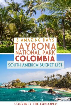 Looking for another adventure to add to your South America bucket list? Plan on spending 3 AMAZING days in Tayrona National Park Colombia. This itinerary and travel guide will help you prepare with a packing list and budget for what to expect on everything from transportation, food and accommodation. It also includes all the BEST things to do in Tayrona National Park! South America Destinations, South America Travel, Colombia South America, Latin America, Tayrona National Park, Beach At Night, Colombia Travel, Equador, Amazing Adventures