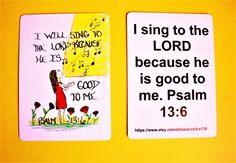 Scripture Doodle Mini Bible Verse Card of by Acrylics139 on Etsy