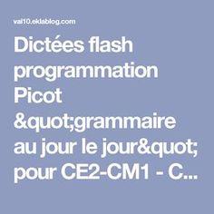 """Dictées flash programmation Picot """"grammaire au jour le jour"""" pour CE2-CM1 - Chez Val 10"""