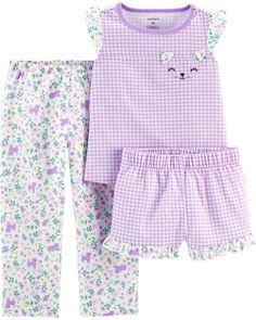 New Toddler Girl Carter's 3 Piece Floral Gingham Pajama Set Baby Girl Pajamas, Carters Baby Girl, Baby & Toddler Clothing, Toddler Girls, Baby Girls, Toddler Toys, Baby Toys, Baby Girl Fashion, Outfit Sets