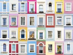 Notting Hill, London, England This Photographer Captured The Alluring Beauty Of Windows Around The World Notting Hill, Beautiful Architecture, Architecture Details, Goncalves, Grid Design, Window Design, Photography Projects, Windows And Doors, Ramen