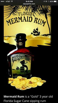 . Mermaid Home Decor, Old Florida, Whiskey Bottle, Rum, Rome