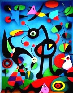 """The Garden"" by Spanish artist Joan Miro aka Joan Miró aka Juan Miro. Joan Miro Paintings, Artwork Paintings, Tomie Ohtake, Ecole Art, Illustration Art, Illustrations, Henri Matisse, Psychedelic Art, Art Plastique"