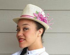 Tembleque Panameños Fedora sombreros para las mujeres por QXPShop