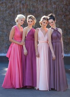 These bridesmaid dresses are almost too pretty. Who said bridesmaids need to match??