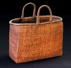 I inherited two baskets with this exact weave, one is a little larger.  Just love them