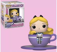 New Alice at the Mad Tea Party Funko Pop! now available online The new Alice at the Mad Tea Party Funko Pop! features your favorite curious Fantasyland gal spinning in her own purple teacup. Mad Tea Parties, Tea Party, Pop Figures Disney, Pop Vinyl Figures, Funk Pop, Disney Pop, Disney Ideas, Funko Pop Dolls, Disneyland