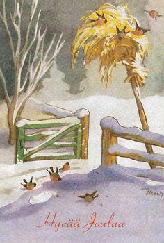 Christmas Tale, Christmas Bird, Childrens Christmas, Vintage Christmas Cards, Xmas Cards, Diy Cards, Pretty Drawings, Fairytale Art, Christmas Illustration