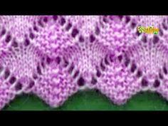 Cómo Tejer Punto ARAÑITAS en LÍNEA - 2 agujas (479) - YouTube