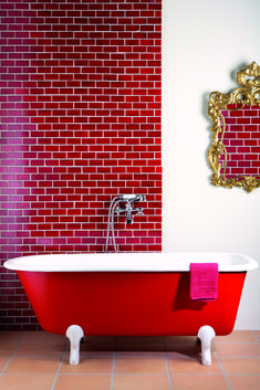 red bathroom tiles 1000 ideas about bathrooms on 14116