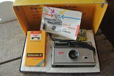 Vintage Kodak Camera, Kodak 104 Instamatic Camera Outfit, Retro Kodak Camera, Original Box With Film Pack. by DomesticTitanVintage on Etsy