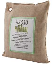 Moso Natural - bamboo charcoal to deodorize and absorb moisture from the room.