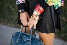 a Celine bracelet, Givenchy Obsediea bracelet, Cartier watch and Love bracelet, and Anarchy Street nut and bolt bracelet (image: teenvogue) Aimee Song, Song Of Style, Arm Party, Teen Vogue, Girls Jewelry, Love Bracelets, Hermes Birkin, Hermes Kelly, Dress Up