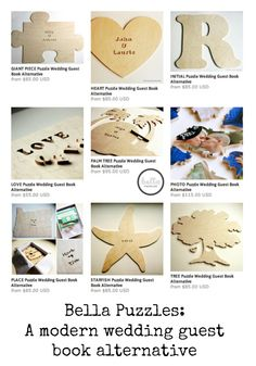 Bella Puzzles: A modern #wedding guest book alternative I love the one with the pic! I think an engagement pic would be great!