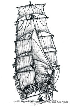Fat Fergus Designs: Tattoo Art - Sailing Ship
