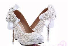 119.00$  Watch here - http://alif17.worldwells.pw/go.php?t=1079710387 - pearl Bridal wedding shoes platform pumps custom made party evening shoes dress shoes Plus Size 34-43 Graduation Prom Shoes