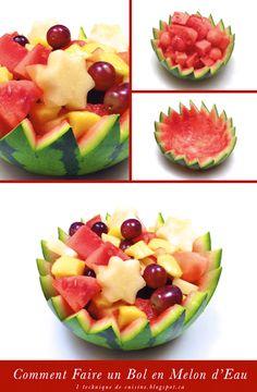 1 sculpture de fruit et légume: Comment Réaliser un Bol en Melon d'Eau (Pastèque)