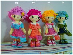 1 Pieces miniatures crochet Amima doll with by MonaCrochetdoll, $46.00