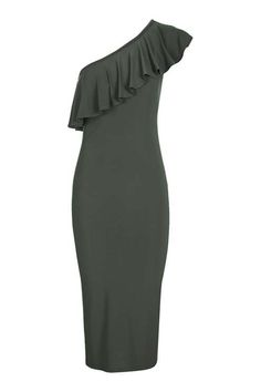 **One Shoulder Frill Dress by Love