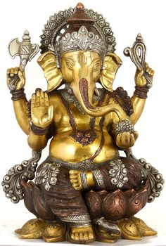 An exhaustive collection of Hindu Statues and Sculptures ranging from Shiva Lingas to Nataraja, Lord Ganesha to Lord Krishna and more at ExoticIndia. Ganesh Statue, Shri Ganesh, Lord Ganesha, Ganesha Art, Krishna Art, Hanuman, Ganesh Images, Ganesha Pictures, Orisha