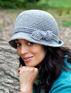 Elegant Hat   Yarn   Free Knitting Patterns   Crochet Patterns   Yarnspirations