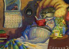 Hannah E. Harrison. Что может быть лучше, чем валяться в постельке с чайком и книжкой))). Это рай))).