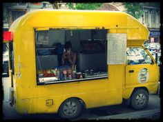 Yellow food van