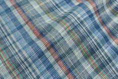 Deep Summer Men's Collection S/S 16_ MATERIALS / DEEP SUMMER_unbalanced linen check.