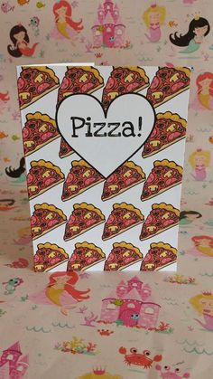 Pizza Cards by PrincessMooGifts on Etsy Pizza, Greeting Cards, Unique Jewelry, Funny, Handmade Gifts, Vintage, Etsy, Kid Craft Gifts, Craft Gifts