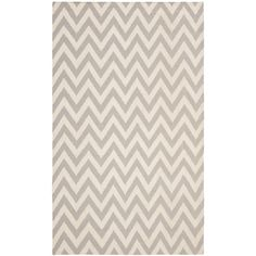 Dhurries Grey/Ivory 11 ft. x 15 ft. Area Rug