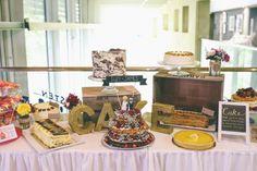 Cake Table Buffet Colourful Modern DIY Fun Wedding http://www.emmaboileau.co.uk/