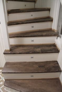 Diagnoosi:sisustusmania: Portaita äidin oomme kaikki // Awesome idea for old stairs