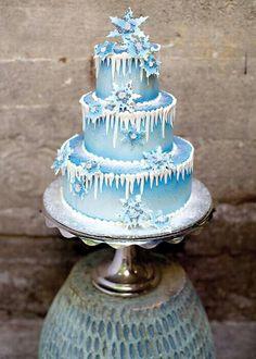 Pretty snowflake cake~